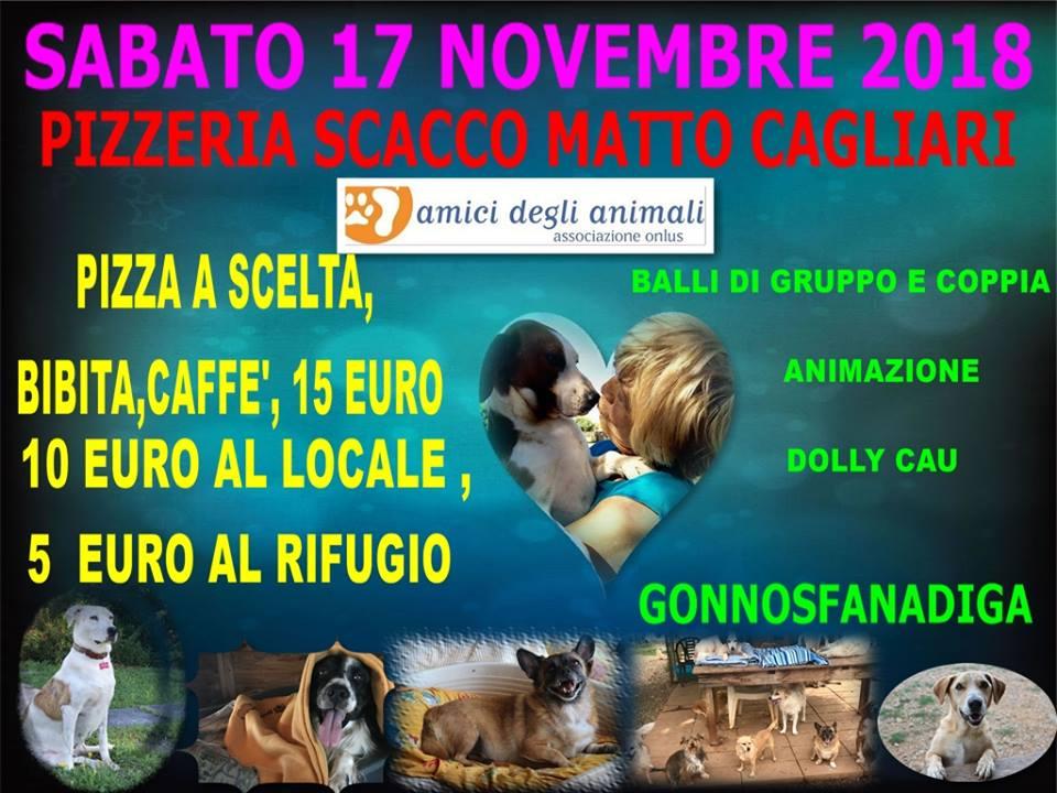 Dolly Cau per Amici Degli Animali - Pizzata 17 novembre 2018